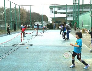 スナッグゴルフキャラバン隊プロジェクト 立川ろう学校テニス教室1